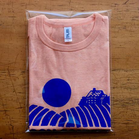 FULL MOON T-Shirts Orange×Blue  L