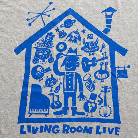LIVING ROOM LIVE T-Shirts Glay×Blue  S
