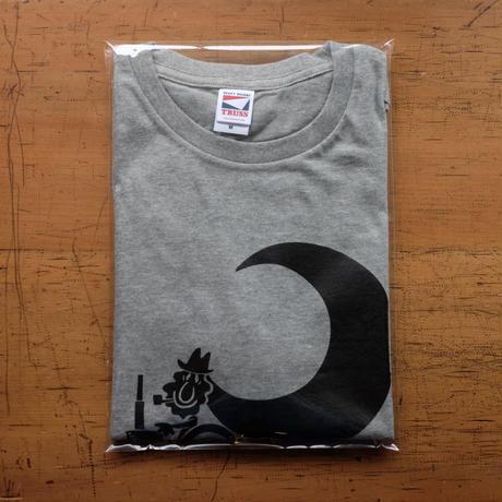 TRACTOR T-Shirts Gray×Black M