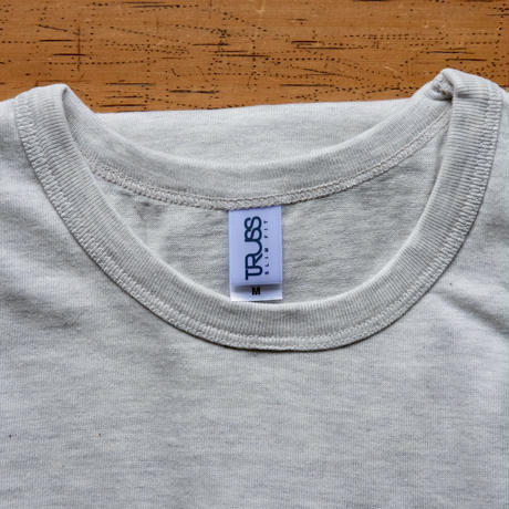 TRACTOR T-Shirts Oatmeal×Blue M