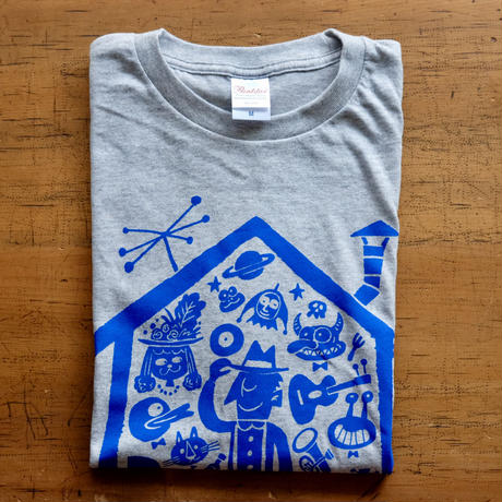 LIVING ROOM LIVE T-Shirts Glay×Blue  L