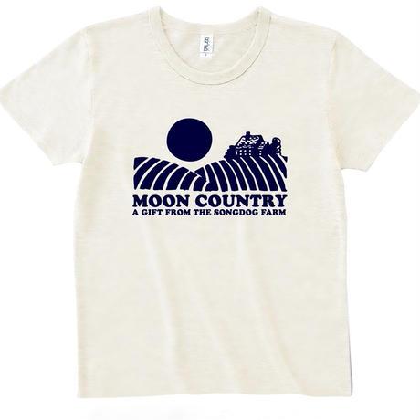 FULL MOON  T-Shirts Oatmeal×Navy L