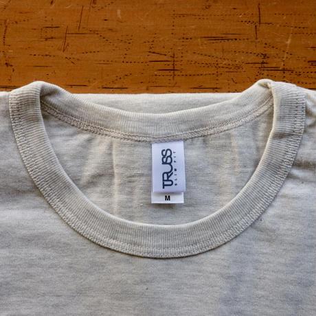 FULL MOON T-Shirts Oatmeal×Blue M