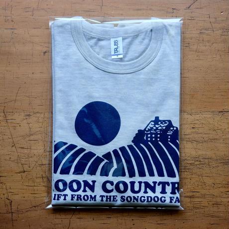 FULL MOON  T-Shirts Oatmeal×Navy S