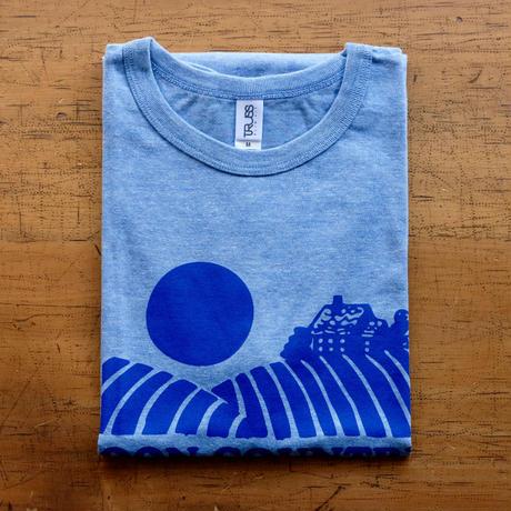 FULL MOON T-Shirts Light Blue×Blue M