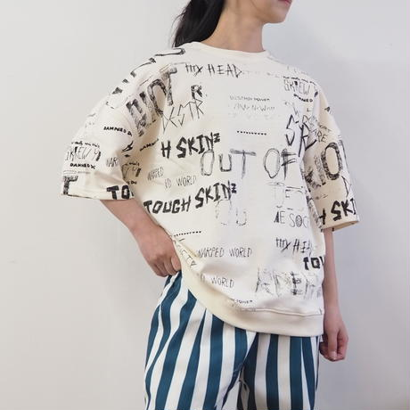 総柄裏毛TEEシャツ[REVO](41229256)