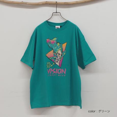 カメレオンイラストTシャツ(41122004)[VISION]