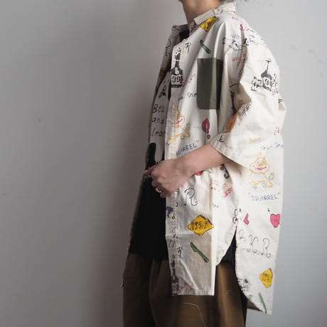 落書き総柄BIGシャツ(41178605)[LIME.INC]