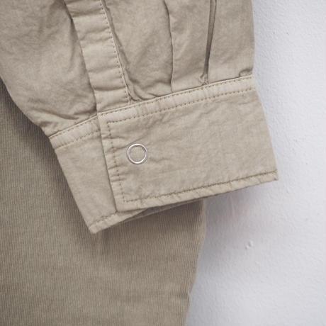 布帛切替長袖前開きワンピース(41129016)