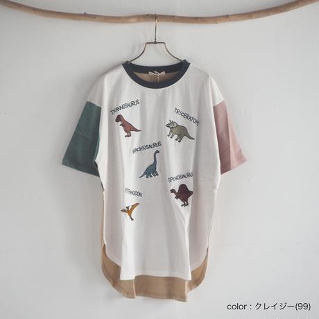 恐竜ランダム刺繍BIGTシャツ(41220028)