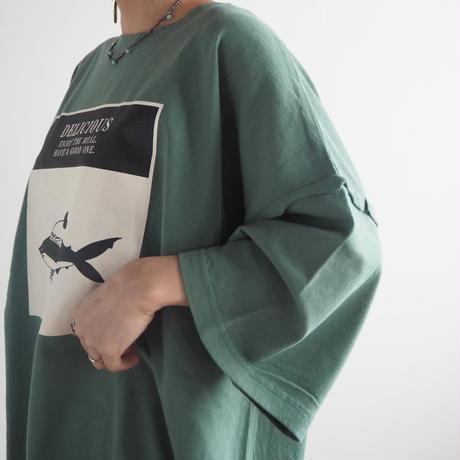 バイオウォッシュサメBIGTシャツ[#Pokke](41229124)