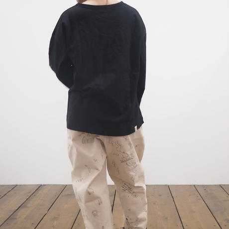 前プリント刺繍ロングTシャツ(41129003)