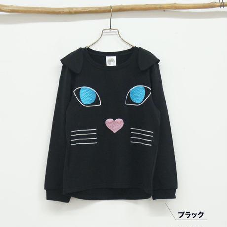 ネコ顔ミニ裏プルオーバー【ScoLar】(40127102)