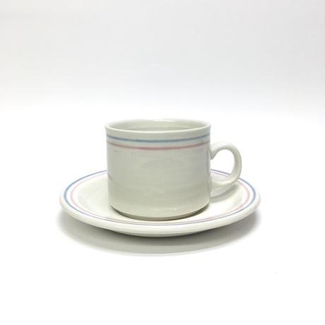 パステルラインのカップ&ソーサー