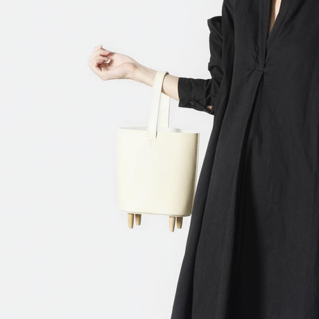 stool tote [white]