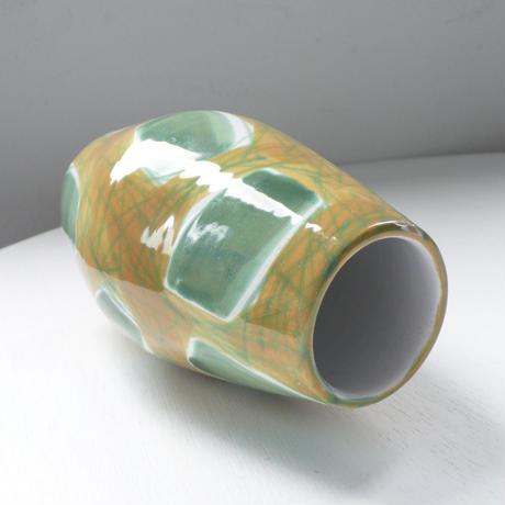 yellow  and  green ceramic vase