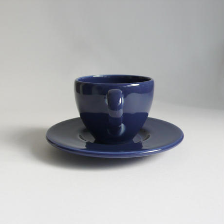 Blue cup and saucer