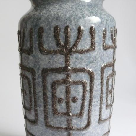 Blue and black ceramic vase