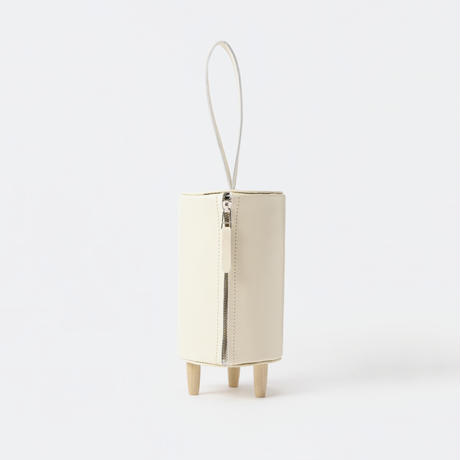 stool bag [white / black]