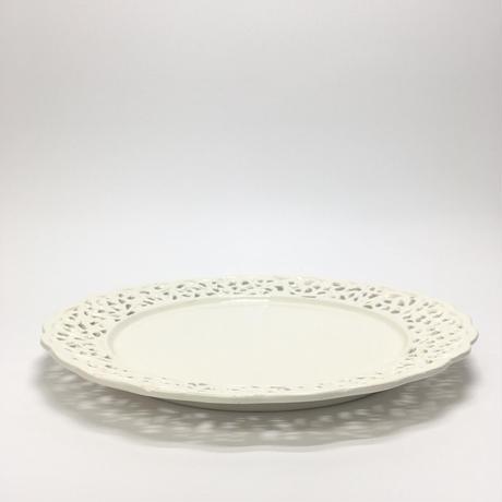 レース模様の大皿
