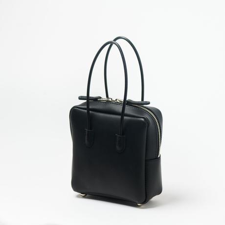 leather shikaku  bag [white / black]