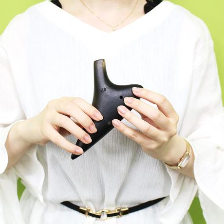 ティアーモ オカリナ ソプラノF シングル管 黒陶シリーズ合奏モデル