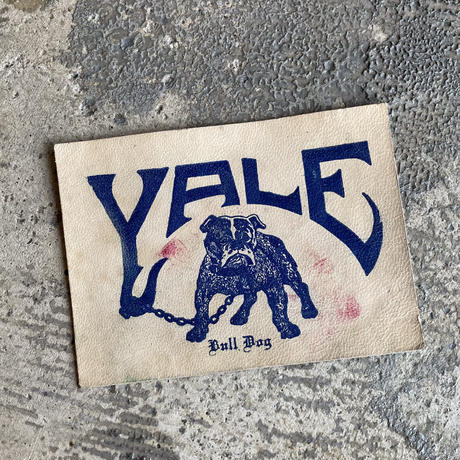 YALE Bulldog Leather Patch Flamed