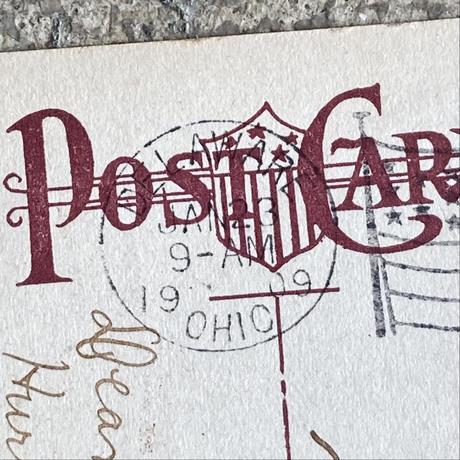 Billiken Post Card Framed