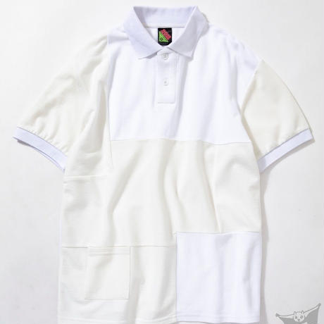SUGARGLIDER CRAZY POLO SHIRTS [WHITE]
