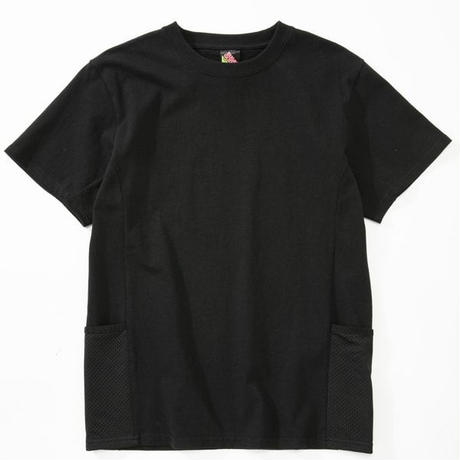 SUGARGLIDER  SIDE  POCKET TEE 【BLACK】