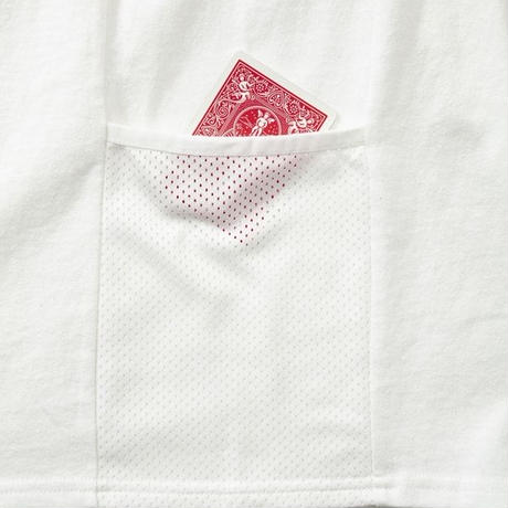 SUGARGLIDER  SIDE  POCKET TEE 【WHITE】