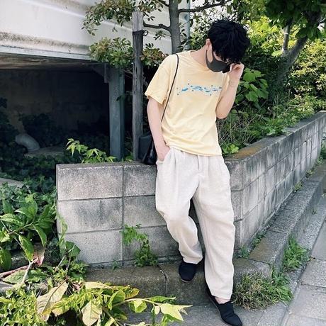 【Ol' Mod】wind (T-shirt  / color:cream yellow)