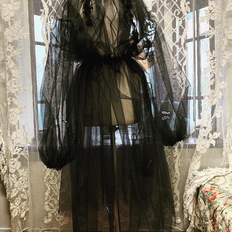 チュールワンピースドレス