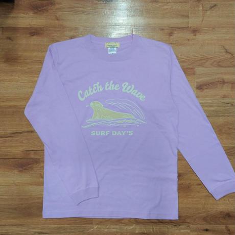 ロングTシャツ(ラッコ Catch the Wave)- ライトパープル