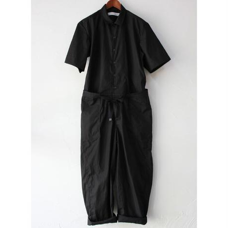 ASEEDONCLOUD アシードンクラウド Silky typewritter cloth sakurashi jumpsuit  #ブラック 【送料無料】