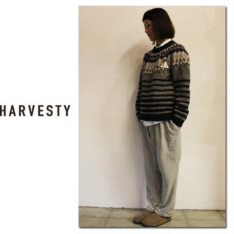 HARVESTY patchworks ハーべスティ フェアアイルプルオーバーニット ♯グレー【送料無料】