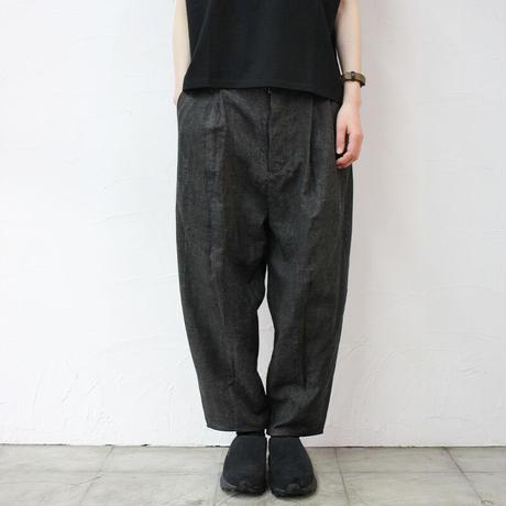 ASEEDONCLOUD アシードンクラウド Ash dyeing linen Sakurashi  Trousers #Black 【送料無料】