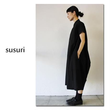 susuri ススリ サマーヘムレンシャツワンピース ♯froat , black【送料無料】