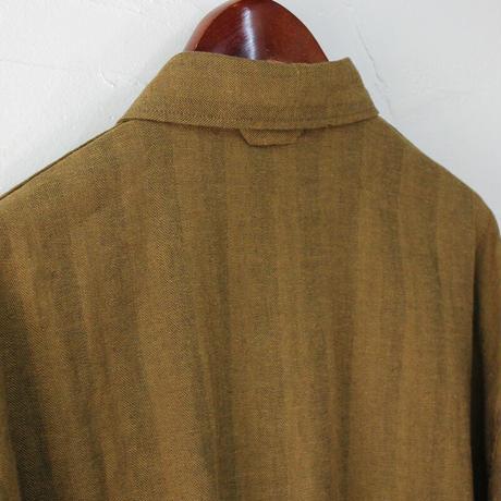 ARTE POVERA アルテポーヴェラ コットンリネンへリンボン裏毛ボックスシャツ #キャラメル、ブラウン 【送料無料】