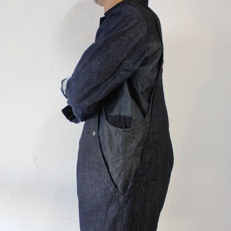 FUNSET OF ART ファンセットオブアート デニムフィッシャーマンオーバーオール #インディゴ 【送料無料】