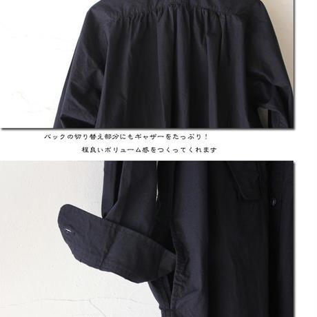 15 jyugo ジュウゴ horse clothギャザーワンピース ♯ブラック(ダークネイビー )【送料無料】