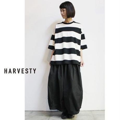 **再入荷**HARVESTY ハーべスティ 40コーマ糸ツイル製品染めサーカスキュロット #モスグリーン、ブラック 【送料無料】