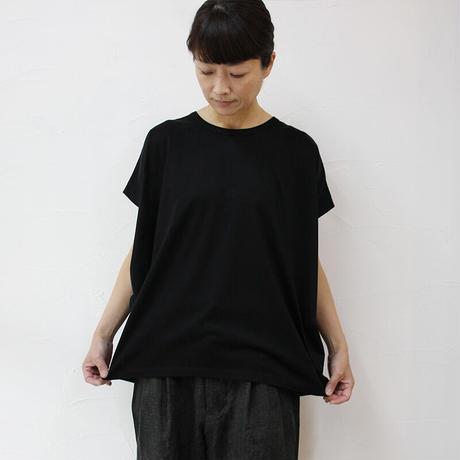 **2021s/s分到着** TRAVAIL MANUEL トラバイユマニュアル シルケット天竺バルーンTシャツ #オフ白、ブラック、ネイビー