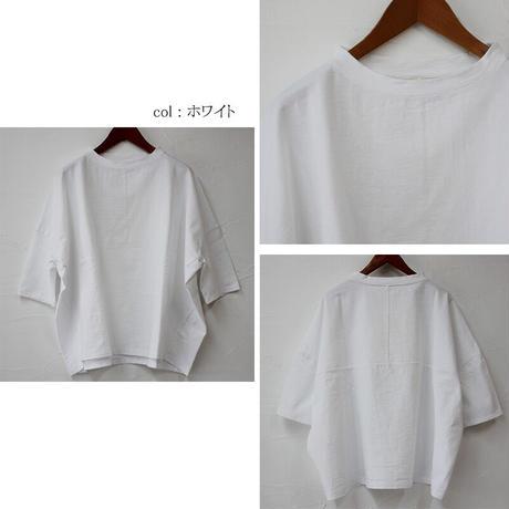 Linenya リネンヤ デラヴェ7分袖シャツ #ホワイト、ブラック、ブルーグレー、ネップネイビー、ネップカーキ、ネップチャコール