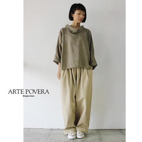 ARTE POVERA アルテポーヴェラ チノ3タックパンツ #ホワイト、ベージュ 【送料無料】