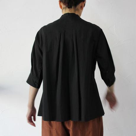SUSURI ススリ ポートタックブラウス #ブラック 【送料無料】