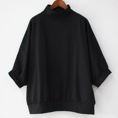 **ブラック再入荷** Linenya リネンヤ 5分袖ハイネックプルオーバー #ブラック、ネイビー、オールドブルー、ベージュ