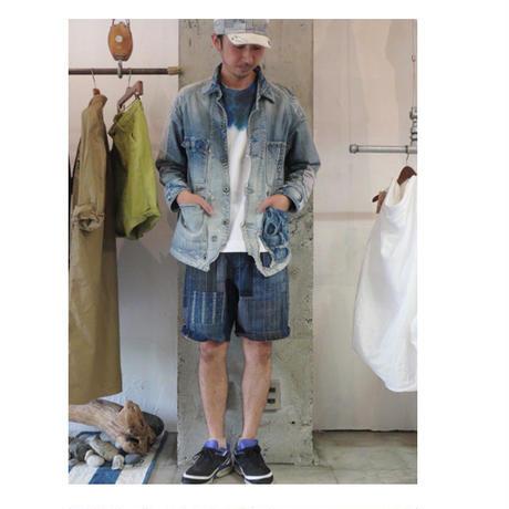 FUNSET OF ART ファンセットオブアート TANZEN刺し子ハリーショートパンツ ♯インディゴ 【送料無料】