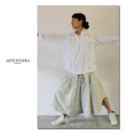 ARTE POVERA アルテポーヴェラ 60タイプライターバルーンプルシャツ #ホワイト、ブラック 【送料無料】