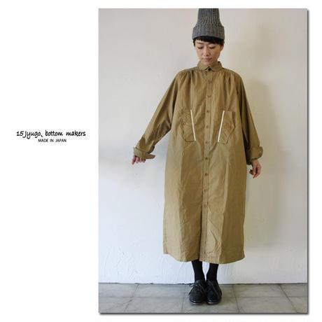 15 jyugo ジュウゴ horse clothギャザーTABIワンピース ♯キャメル 【送料無料】